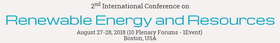 2nd International Conference on Renewable Energy and Resources