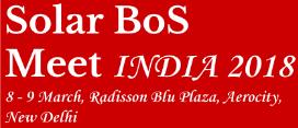 Solar BoS Meet India 2018 Forum