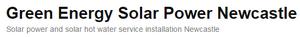 Green Energy Solar Power Newcastle