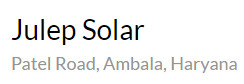 Julep Solar