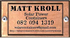 Matt Kroll Solar Power Containers
