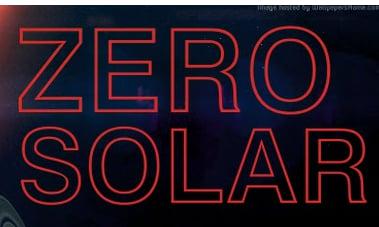Zero Solar Energy