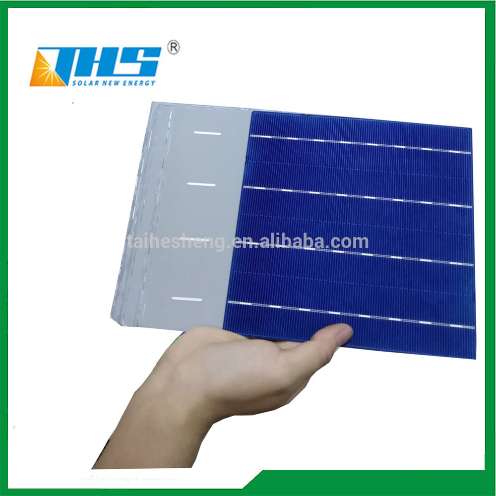 solar cell 156.75*156.75mm 4BB polycrystalline solar 18.6%-19.4%