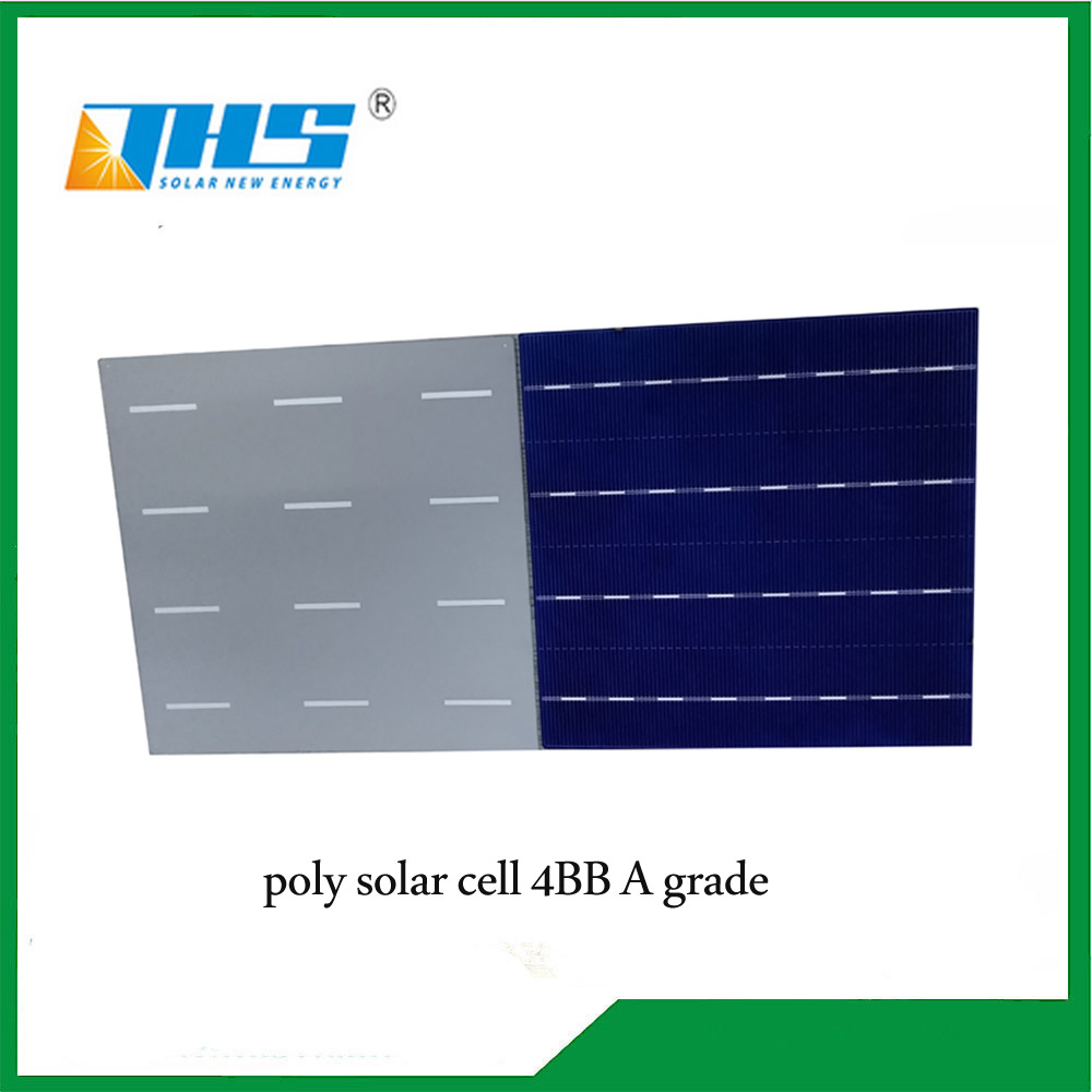 poly 18.6% 156.75mm 4BB solar cell