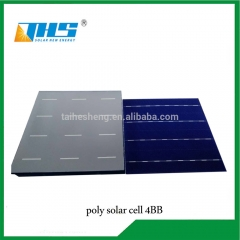 156.75mm poly 19.5%-19.9% 4BB solar cell
