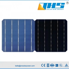 mono 156.75mm 5BB bifi solar cell 21%-21.4%
