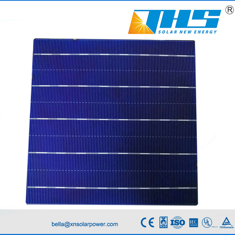 poly solar cell 5BB 156.75mm 18%-18.6%  A grade