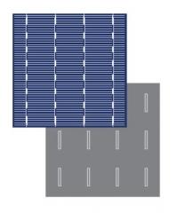 Poly-crystallinie solar cell