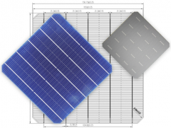 MS-5BB 156.75 Mono 5BB Solar Cell ‏(half cut)