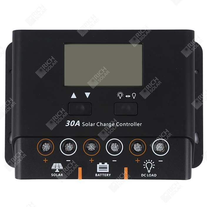 RICH SOLAR 30 Amp PWM Solar Charge Controller Negative Ground