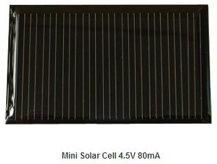 4.5V 80mA Epoxy solar panel 0.36