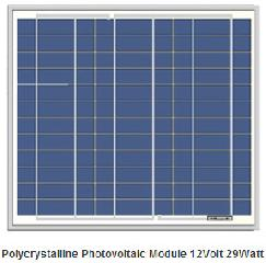 12V 29W photovoltaic solar panel 29