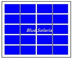 5V 1.2W Epoxy Resin Solar Panel 1.2