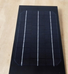 6.5W 18V rectangular black solar panel 6.5