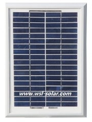 Solar panel 5 Watt 18 Volt for 12V battery charging