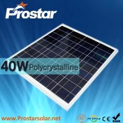 40W Poly Solar Panel 40