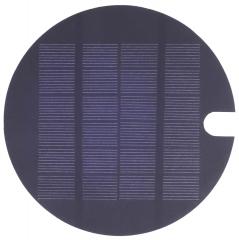 circular 6 V Mono solar panel with a hole 1.6