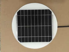 5W 5V 1A round lighting solar panel