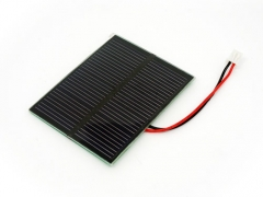 0.7W solar panel with 100mm leads 0.7