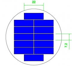 Diameter 63.5mm 6V mini pv solar module 0.36