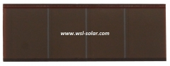 Thin film glass solar cell