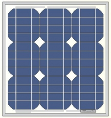 24W solar panel with frame