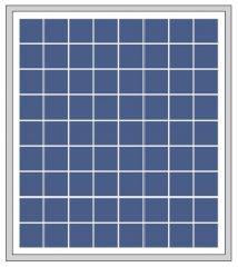 18W 18V poly-crystalline solar panel