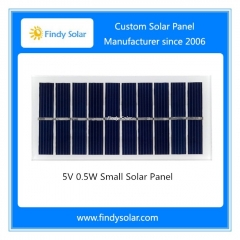 5V 0.5W Small Solar Panel , Monocrystalline