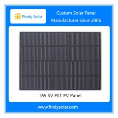 3W 5V Custom Solar Panel, PET Laminated