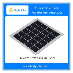 6 Volts 2 Watts Solar Panel