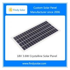 18V 3.6W Crystalline Solar Panel
