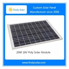 20W 18V Poly Solar Module