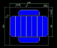 6.5W 5V square sunpower solar module 6.5