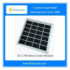 6V 1.7W Solar Module with Frame