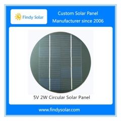 2 Wp Circular Solar Panel 5V