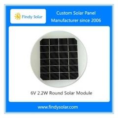 6V 2.2W Round Solar Module