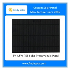 5V 4.5W PET Solar Photovoltaic Panel
