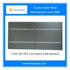 5.2W 18V PET Laminated Solar Module