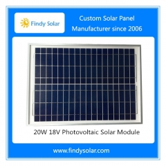 Solar Panel 20W 18V for Solar/Battery Fence Energizer