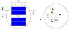 Mini célula solar redonda de 2V 0.28