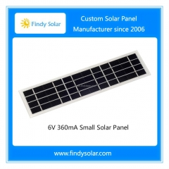 6V 360mA Small Solar Panel, mono solar cell