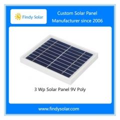 3 Watt Solar Panel 9V Poly