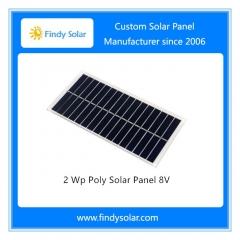 2 Wp Poly Solar Panel 8V