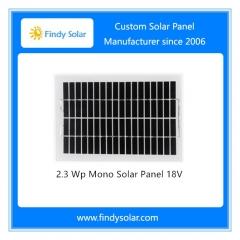 2.3 Watt Solar Panel 18V Monocrystalline