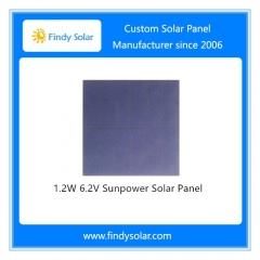 1.2W 6.2V Sunpower Solar Panel