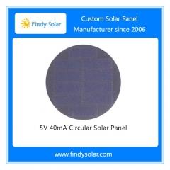 5V 40mA Circular Solar Panel