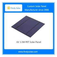3.3W 6V PET Solar Panel