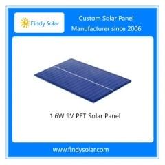 9V 1.6W PET Solar Panel