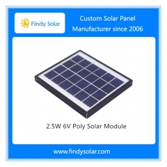 2.5W 6V Poly Solar Module
