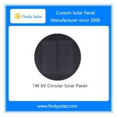 1W 8V Circular Solar Panel